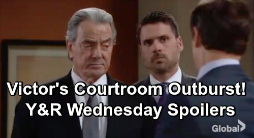 The Young and the Restless Spoilers: Wednesday, February 27 Update – Rey Breaks The Law For Mia – Victor's Courtroom Outburst