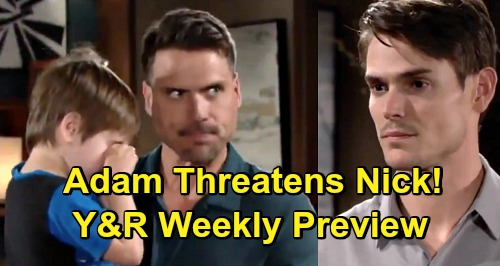 The Young and the Restless Spoilers: Week of May 13 Preview – Adam Threatens Nick and Victoria – Sharon's Amazing Discovery