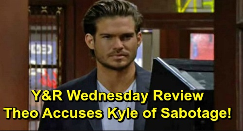 The Young and the Restless Spoilers: Wednesday, December 18 Review - Theo Accuses Kyle Of Sabotage - Billy & Amanda Flirt - Elena Reads The Dossier