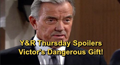 The Young and the Restless Spoilers: Thursday, December 12 – Victor's Dangerous Gift – Jack's Plan Helps Kyle, Theo Trouble Brewing