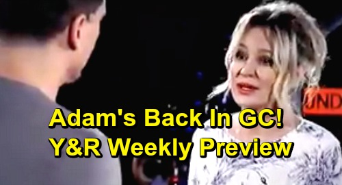 The Young and the Restless Spoilers: Week of May 13 Preview – Adam Newman's Home, Genoa City Erupts – Mia's Paternity Test Results