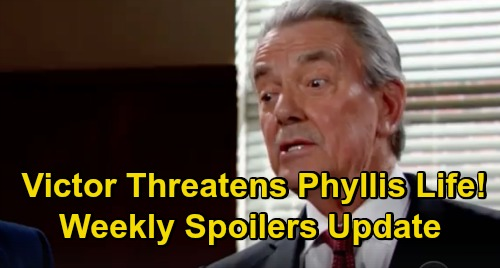 The Young and the Restless Spoilers: Week of February 18 Update – Phyllis Turns Rat, Victor Threatens Her Life