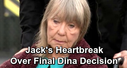 The Young and the Restless Spoilers: Jack Struggles As Dina's Condition Worsens, Foreshadowing Death - Doctor Suggests Care Facility