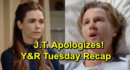 The Young and the Restless Spoilers: Tuesday, March 26 – J.T. Apologizes to Victoria After Tumor Removal – Rey Kisses Sharon