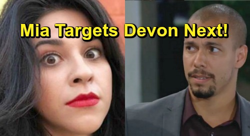 The Young and the Restless Spoilers: Devon Is Mia's Next Target – Hot Billionaire Falls for Schemer?