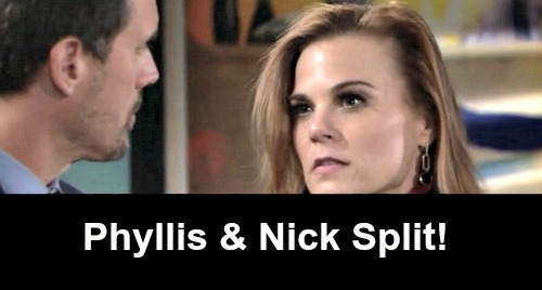The Young and the Restless Spoilers: Phick Finished, Split Near - Nick Works To Clear Victor – Phyllis Works In Opposite Direction