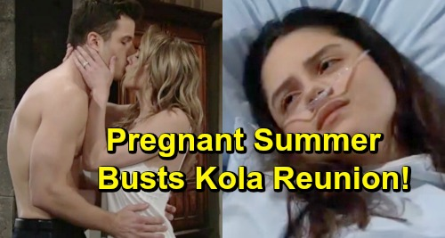 The Young and the Restless Spoilers: Lola Devastated Over Kyle's Steamy Wedding Night - Pregnant Summer Kills Kola Reunion