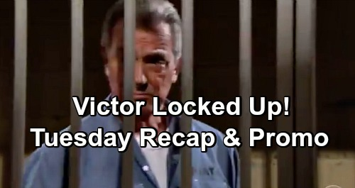 The Young and the Restless Spoilers: Tuesday, January 1 Recap – Victor Charged with J.T.'s Murder – Nikki Threatens Christine