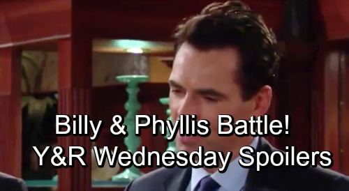 The Young and the Restless Spoilers: Wednesday, October 31 – Rey's Fierce Warning – Jill and Nikki Face Off – Billy and Phyllis Battle