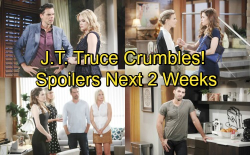 The Young and the Restless Spoilers Next 2 Weeks: J.T. Truce Crumbles - Billy Faces Old Foe – Shick Rev Up Christian Fight