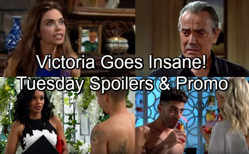 The Young and the Restless Spoilers: Tuesday, May 29 – Victoria's Hysterical Rage – Devon's Smooth Move – Ashley's in Shock