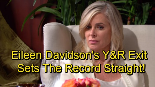 The Young and the Restless Spoilers: Eileen Davidson Shuts Down Mal Young's Claims – Sets the Record Straight About Y&R Departure