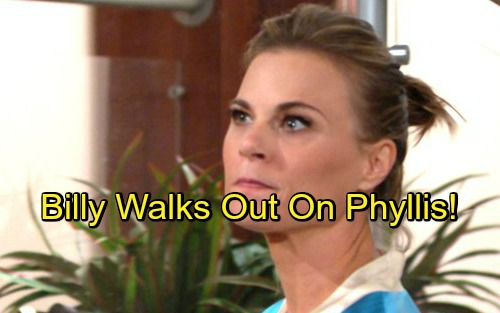 The Young and the Restless Spoilers: Billy Walks Out on Phyllis - Philly Split Over Summer