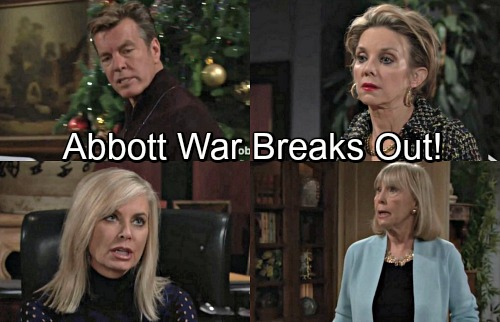 The Young and the Restless Spoilers: Jabot Civil War - Jack and Ashley Nasty Fight for Control