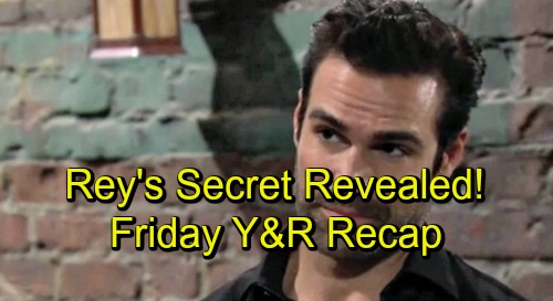 The Young and the Restless Recap for Friday, August 31 - Rey's Secret Connection Revealed