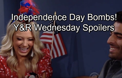 The Young and the Restless Spoilers: Wednesday, July 4 – Independence Day Bombs – Cane's Nasty Strike – Tessa's Secret Message