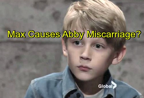 The Young and the Restless (Y&R) Spoilers: Abby Falls Down Stairs After Max Sets Trap – Baby in Crisis, Abby Miscarriage
