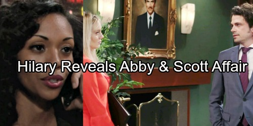 The Young and the Restless Spoilers: Temptation Hits Hard for Violated Hilary – Exposes Abby and Scott's Affair