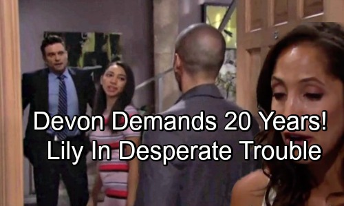 The Young and the Restless Spoilers: Lily Fears Harsh Sentence, Devon Pushes for 20 Years in Prison – Moment of Truth Looms