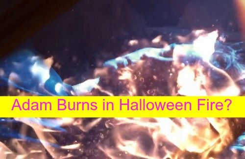 The Young and the Restless (Y&R) Spoilers: Adam Burning, Trapped in Halloween Fire – Stitch and Ashley Face Death Together