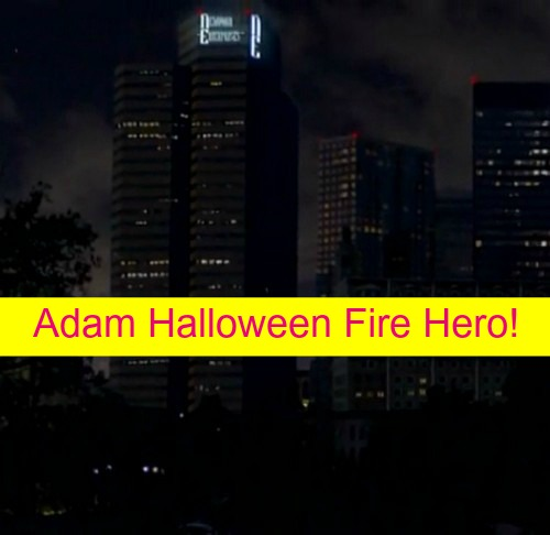 The Young and the Restless (Y&R) Spoilers: Adam Proves Bravery at Halloween Gala Fire, Hero Risks All to Save Lives?
