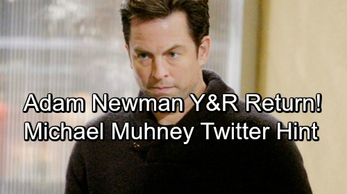 The Young and the Restless Spoilers: Adam Newman Returns To Y&R – Hints In Michael Muhney's Twitter and SOD Blind Item