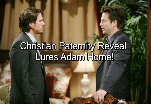 The Young and the Restless Spoilers: Victor Uses Christian Paternity Reveal In Sick Scheme - Lures Adam Newman Home