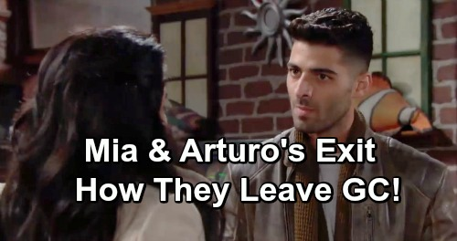 The Young and the Restless Spoilers: Mia and Arturo's Exit - Leave Together as a Couple or Jail For Lola's Attacker?