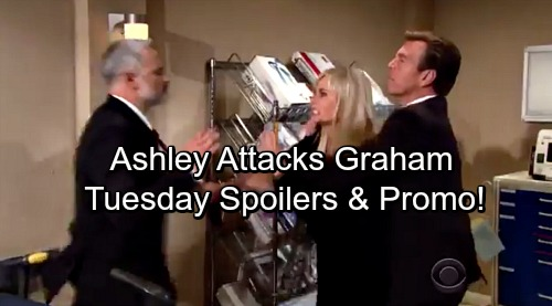 The Young and the Restless Spoilers: Tuesday, October 17 - Ashley Attacks Graham as War Rages On – Victor Gives Nikki Advice