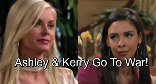 The Young and the Restless Spoilers: Ashley and Kerry's War Heats Up – My Beauty vs. Jabot Bitter Battle Brings Crushing Blows