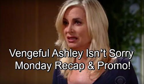 The Young and the Restless Spoilers: Monday, October 15 – Vengeful Ashley Isn't Sorry, Reveals Scheme Details – Phyllis' Sneaky Plan
