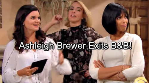 The Bold and the Beautiful Spoilers: Ashleigh Brewer Exits B&B – Ivy Out at the CBS Soap