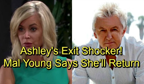 The Young and the Restless Spoilers: Ashley's Exit Shocker – Mal Young Promises She'll Be Back for New Story