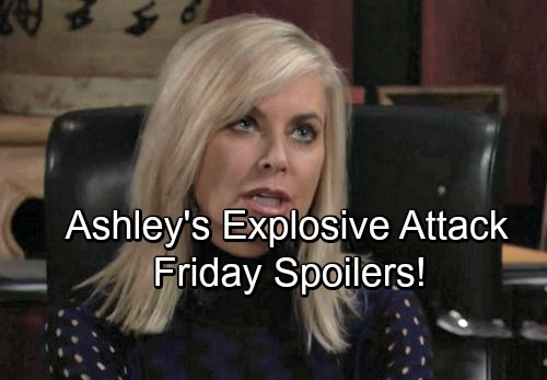 The Young and the Restless Spoilers: Friday, January 12 - Ashley's Angry Mission – J.T. and Victoria's Showdown
