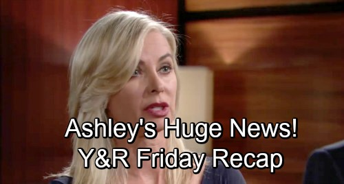 The Young and the Restless Spoilers: Friday, November 23: Ashley's Huge News – Victoria Rattles Tessa – Billy and Nick Face Off