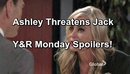 The Young and the Restless Spoilers: Ashley Threatens Jack With Jabot Takeover – Cane Begs Jill for a Chance