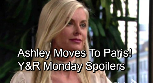 The Young and the Restless Spoilers: Monday, October 29 – Paris Awaits Ashley, Eileen Davidson's Last Episode – Jabot Left in a Bind