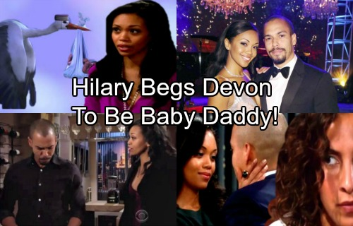 The Young and the Restless Spoilers: Hilary Drops a Bomb, Begs Devon to Be Her Baby Daddy – Huge Decision for Shocked Ex
