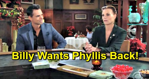 The Young and the Restless Spoilers: Billy Wants Phyllis Back - Confides in Jack That The Passion's Still Alive