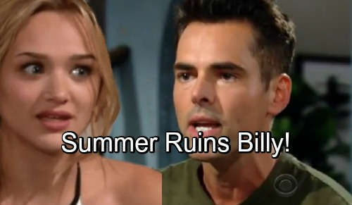 The Young and the Restless Spoilers: Billy's Career Wrecked, Relationship Ruined – Summer Exploits Dangerous Downward Spiral