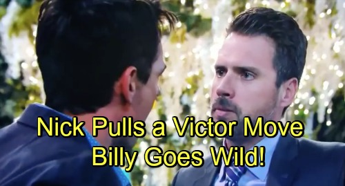 The Young and the Restless Spoilers: Billy Furious Over Nick's Dirty Trick – Victor-ish Move Fuels Vicious Rivalry