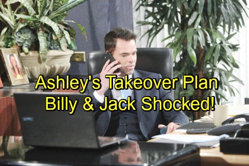 The Young and the Restless Spoilers: Ashley's Secret Takeover Plan – Jack and Billy Shocked Over Sneaky Power Play