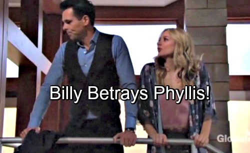 The Young and the Restless Spoilers - Billy Betrays Phyllis With Summer - Philly's Relationship Destroyed