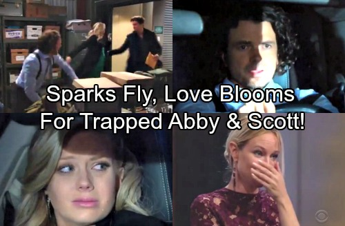 The Young and the Restless Spoilers: Sparks Fly for Trapped Scott and Abby – Love Blooms As Couple Await Rescue