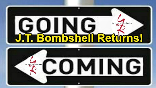 The Young and the Restless Spoilers: Comings and Goings – Surprising Goodbyes and Troubling Returns – Comebacks Bring J.T. Bombshells