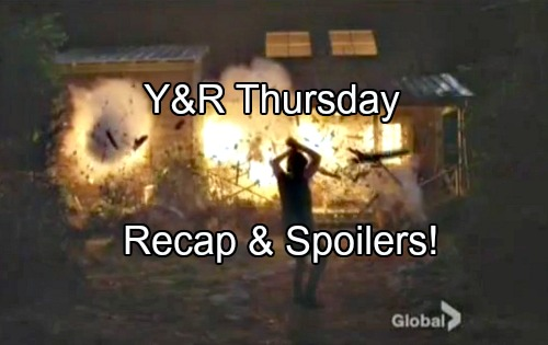 'The Young and the Restless' Spoilers: Chloe's Revenge, Watching Adam Die - Cabin Explosion Shocks Nick and Chelsea