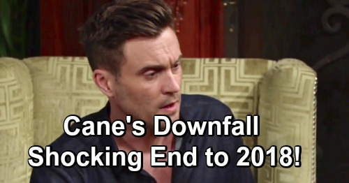 The Young and the Restless Spoilers: Cane's Disastrous New Year's Eve – Downward Spiral Brings a Shocking End to 2018