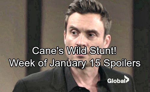 The Young and the Restless Spoilers: Week of January 15 - Cane's Crazy Stunt Shocks Lily