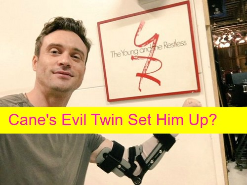 The Young and the Restless (Y&R) Spoilers: Is Cane Ashby's Evil Twin Caleb Atkinson Setting Up Bro As Ransom Blackmailer?