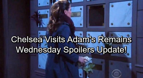 The Young and the Restless Spoilers: Wednesday, January 31 Update - Chelsea Stashes Cash In Adam's Columbarium Slot